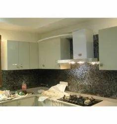 Modern L Shape Modular Kitchen, Work Provided: Wood Work & Furniture