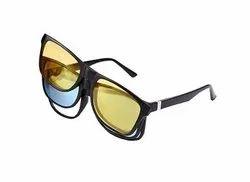 Hd Vision Glass 3pcs - Magic Vision Sun Glasses 3 In 1 Quick Change Magnet Lenses Frame