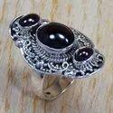 925 Sterling Silver Jewelry Garnet Gemstone Ring SJWR-698