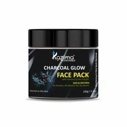 KAZIMA Activated Charcoal Clay Glow Face Pack
