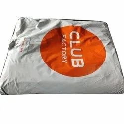 HDPE Button Club Factory Courier Bag, For Shopping
