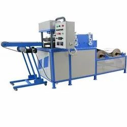 Mild Steel Hydraulic Fully Automatic Paper Thali Making Machine, 220 V, Production Capacity: 50 Piece Per Min