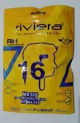 Black & White Wired Pouch Earphone (Premioum Quality), Headphone Jack: 3.5mm