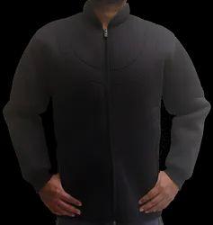 Full Sleeve Zippered Neoprene Biker Jacket