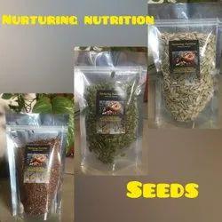 Seeds - Pumpkin, Sunflower, Flax, Packaging Type: Packet