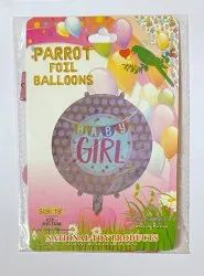 18 Baby Girl Themed Foil Balloon