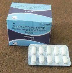 Trypsin-Chymotrypsin With Paracetamol & Aceclofenac Tablets
