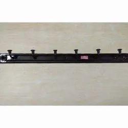 Black Mild Steel Wall Hanger, Shape: Rectangular