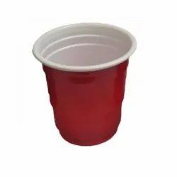 Red Plain 1.5 OZ Plastic Disposable Glass