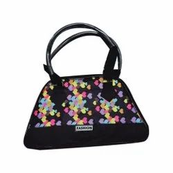 Black Adjustable Fancy Ladies Hand Bags, For Party