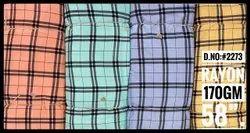 D.No. 2273 Rayon Check Printed Fabric
