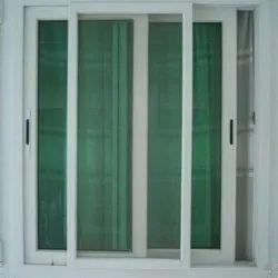 Aluminum (Frame) White (frame) SM-001 Sliding Mesh Doors, Exterior