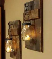 Warm White Glass Wall Lamp