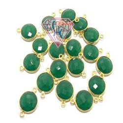 Green Onyx Gemstone Connector