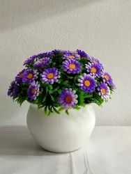 Blue(Flower) Home Decoration Blue Artificial Potted Flower