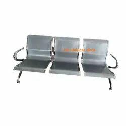 3 Seater Chrome Waiting Chair