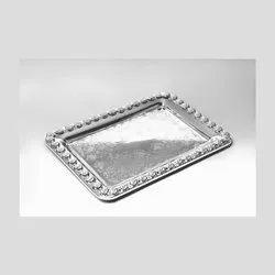 Modak Adroned Shining Silver Tray