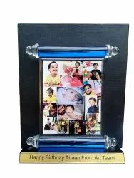 Crystal Birthday Photo Frame, For Gift, Size: 8x10 Inches