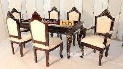 Dn-02 Bhartiye Art Wooden Carved Dining Set