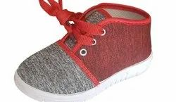 Red & Grey Kids Casual Shoes, 15 Year