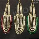 Kundan Necklace Set With Ruby Beads