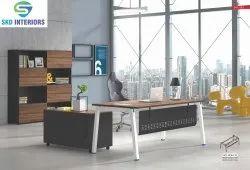 Rectangular Modern Mild Steel Executive Table