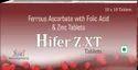 Hifer Z Xt Tablets - Ferrous Ascorbate With Folic Acid & Zinc Tablets, 10 X 10, Strip