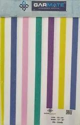 Plain Hospital Bed Linen Candy Multi Color Stripe - 135 to 140 GSM
