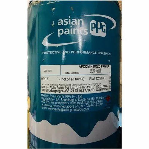 Asian Paints Rozc Primer Paints For Industrial Rs 2270 Drum Id 22000654048
