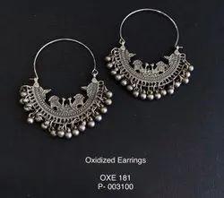 Zinc Pan India Afghan Chandbali Earrings, Size: 2.5 Inch