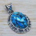 925 Silver Jewelry Copper Turquoise Gemstone Fine Pendant