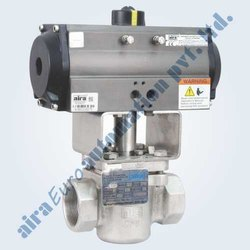 Pneumatic 2 Way Plug Valve Screwed