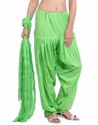 Jaipur Kurti Pure Cotton Parrot Green Patiala Salwar and Dupatta Set