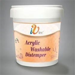 IV Tec High Gloss Acrylic Washable Distemper, For Wall, Packaging Type: Bucket