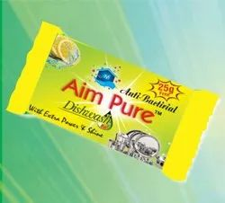 Aim Pure Cake Dish Wash Bar Soap, Packaging Type: Packet