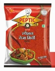 Paptic Spicy Teza Special Chilli Powder, Packaging Type: Packet