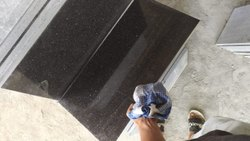 Black Galaxy Granite Polished Tiles 60/30, For Flooring, Thickness: 15-20 mm