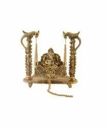 Lord Ganesh Ji Peacock Jhula Statue
