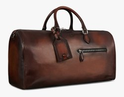 Vegan Leather Travel Bags Synthetic Leather Traveling Bag  Dark Brown Luggage