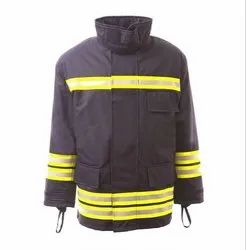 Full Sleeve Firefighter Jacket, For Fire Safety, S - XXL