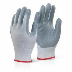 For Industrial Rubber Gray & white nitrile gloves