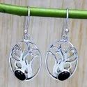 925 Sterling Silver Jewelry Black Onyx Gemstone Designer Earring SJWE-168