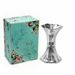 Ridged Crystal Bow Vase (Small)