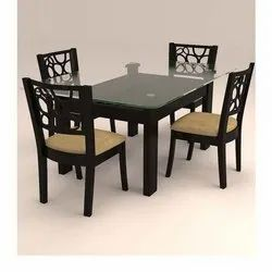 4 Seater Wooden Dining Table Set