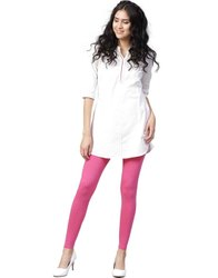 Jaipur Kurti Women Rani Solid Cotton Lycra Leggings