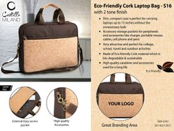 Brown Eco Friendly Cork Messenger Bag