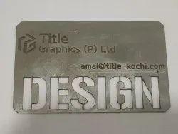 Silver Steel Metal Visiting Card In Kochi, Size: 9cm X 5cm