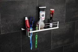 SS Bathroom Shelf With Brush Holder