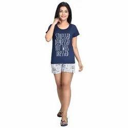 Versatile Apparels Cotton Ladies Short and T Shirt Top
