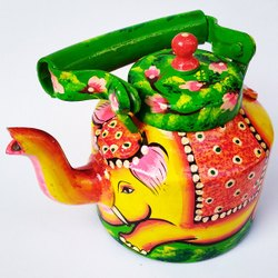 Elephant design handpainted kettle